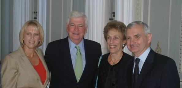 Marcia Cone, Sen. Dodd, Ellen Bravo and Sen. Reed