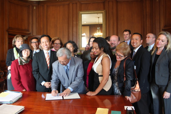Signing SF Right to Request Bill 100913