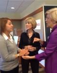 CSJ Gabby Monteiro talks to Coakley and Warren